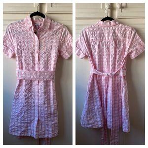 NWT Lisa Marie Fernandez Pink Gingham Dress Plaid